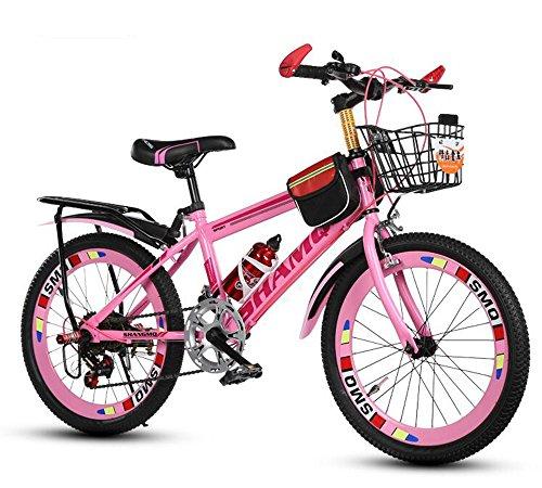 CivilWeaEU- Biciclette per Bambini, 6-7-8-9-10-14 Anni Passeggino Ragazzo Femmina La Mountain Bike da 20/22 Pollici per Studenti (Colore : Rosa, Dimensioni : 22 Inches)