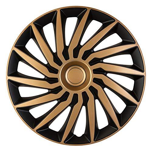 AutoStyle PP 5405GB Satz Radzierblenden Kendo 15-Zoll Schwarz/Gold