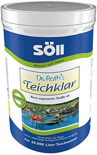 Söll 10073 Dr. Roth's Teichklar mikrobiologische Teichreinigung und Algenprophylaxe 1 kg - schadstoffabbauende Mikroorganismen für natürliche Wasserklärung im Teich Schwimmteich Fischteich