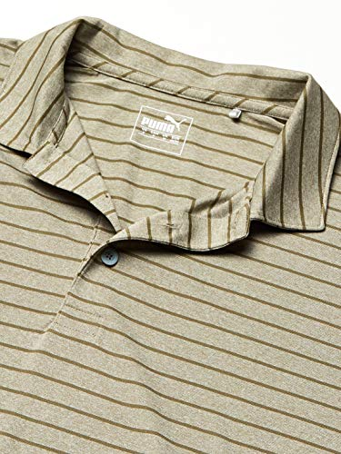 PUMA Golf 2019 Men's Rotation Stripe Polo, Deep Lichen Green, Small