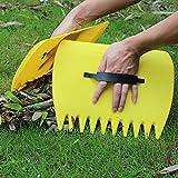 LLSS 1 Paar Blattschaufeln Kunststoff-Blattschwader mit verstellbaren Griffen zum Aufnehmen von Gartenhof-Handblättern Rasenmüll