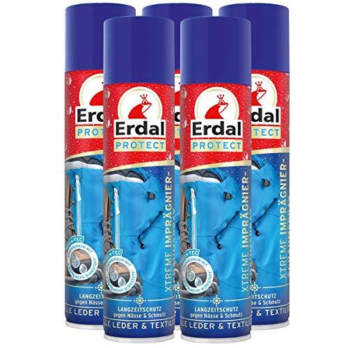 Erdal 5x Erdal Protect Xtreme Imprägnier-Schaumspray 400 ml - Gegen Nässe & Schmutz