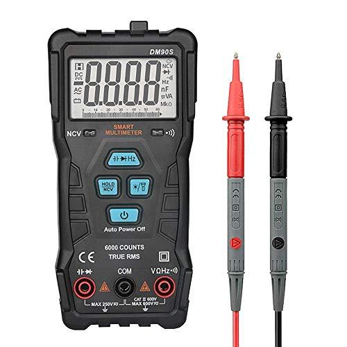 MOZUSA DM90S Automático de Identificación del multímetro de alta velocidad inteligente de escala completa anti-Burning Medida herramienta portátil Herramientas industriales