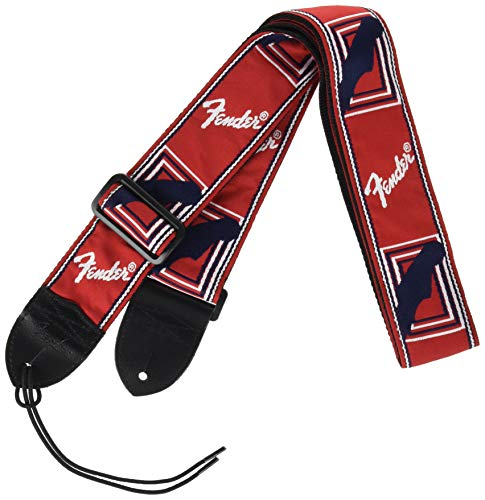 Fender Sangle Monogrammed 5 cm Rosso, Bianco, Blu