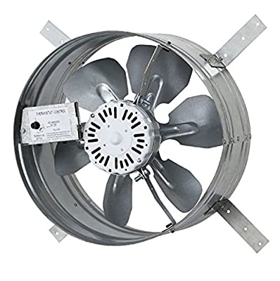 Iliving ILG8G14-12T Newest Automatic Gable Mount Attic Ventilator Fan with Adjustable Thermostat, 3.10 Amp from iLIVING USA