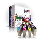 Multipack 20 Cartuchos de tinta compatibles para Epson T0715 con la viruta para Epson Stylus D120 / D78 / D92 / DX4000 / DX4050 / DX4400 / DX5000 / DX6000 / DX6050 / DX7000F / DX7400 / DX7450 / DX8400 / DX8450 / DX9400F, BX300F / BX600FW, S20 / S21 / SX100 / SX105 / SX110 / SX115 / SX200 / SX205 / SX210 / SX215 / SX400 / SX405 / SX410 / SX415 / SX510W / SX515W / SX600FW / SX610FW