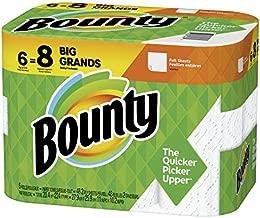 Bounty Paper Towels, White, 6 Big Rolls = 8 Regular Rolls