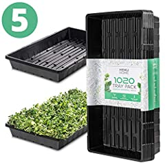 Our 1020 seedling trays are designed to be used for years. The extra-thick plastic will hold up without cracking or breaking so you can easily reuse the trays multiple growing seasons. You won't be disappointed! The trays use ultra-durable, BPA free,...