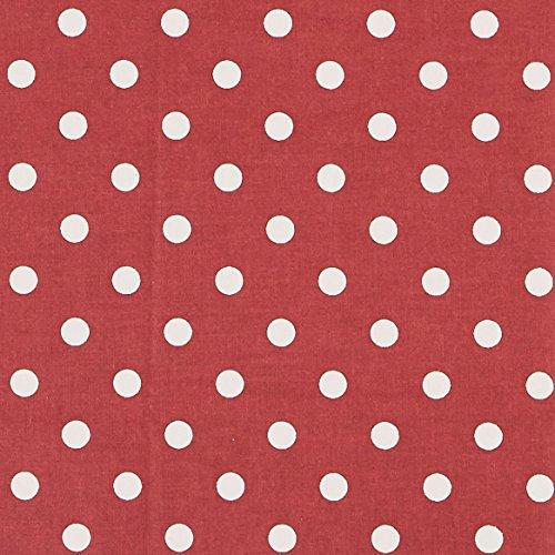 Vinylla - Mantel de hule con revestimiento de vinilo de color rojo, fácil de limpiar, vinilo 100% algodón algodón, Rojo, 140 x 140 cm