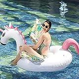 Flotador de Piscina Unicornio, Juguete Hinchable Flotante Gigante del Unicornio, Colchoneta Hinchables Unicornio Juguete Piscina Inflable Flotador para Adultos y Niños