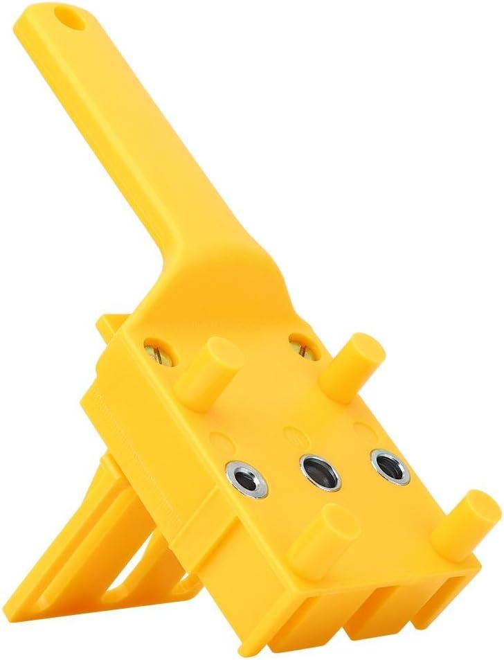 yellow bricolaje de mano para trabajar la madera para la instalaci/ón de tiradores de cajones de perforaci/ón Localizador de perforaci/ón ajustable plantilla de clavijas