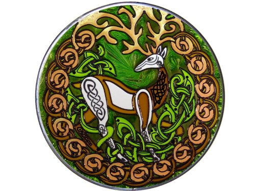 Celtic Stag - Herne 10' Diameter Art Glass Stained Glass Piece