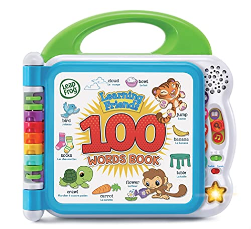 LeapFrog 80-601543 Learning Friends 100 Words Book Electronic Toys, White