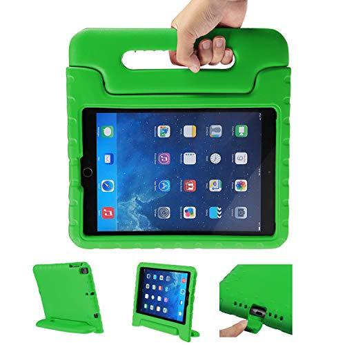 LEADSTAR Funda Para Nuevo iPad 9.7 Tableta Caso de Los Niños a Prueba de Golpes Luz Peso Mango Soporte Super Protección Cubierta para Apple iPad Air / iPad Air 2 / iPad 9,7 2017 / 2018 Tablet (Verde)