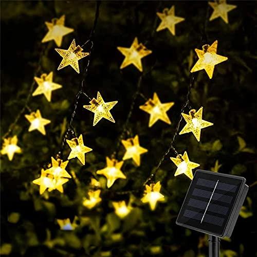 Guirnaldas Luces Exterior Solar, XVZ 30 LED Cadena de luces solares para...