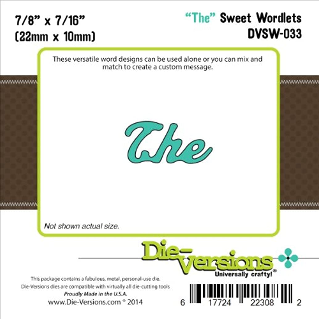 Die-Versions Sweet Wordlets Die Cuts, 0.875 by 0.437-Inch, The