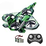Zego F22 Remote Control Drone for Kids and Beginne, Easy to Fly and Hover, RC Quadcopter Fighter Jet with 360° Flip, LED Light Indication, 4 Blade Propellers, Upgraded 2 Batteries, Best Gift for Kids