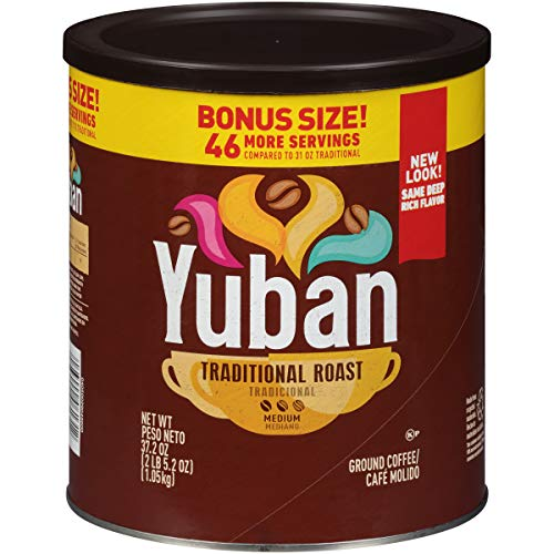 One 37.2 oz. canister of Yuban Traditional Medium Roast Ground Coffee