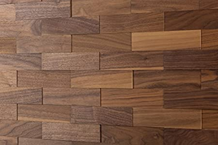 wodewa Paneles de Madera Para Pared Nogal I 1m² Revestimiento de Paredes 3D Panel Decorativo Madera Interior Sala de Estar Cocina Dormitorio Mural I Engrasado