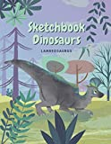 Sketchbook Dinosaur Lambeosaurus: Sketchbook Dinosaurs for Kids, Creative Notebook, 8 to 12 Years old, 120 pages Blank Lined Sketchbook. (Large 8.5x11 inch) Journal for Kids. (French Edition)