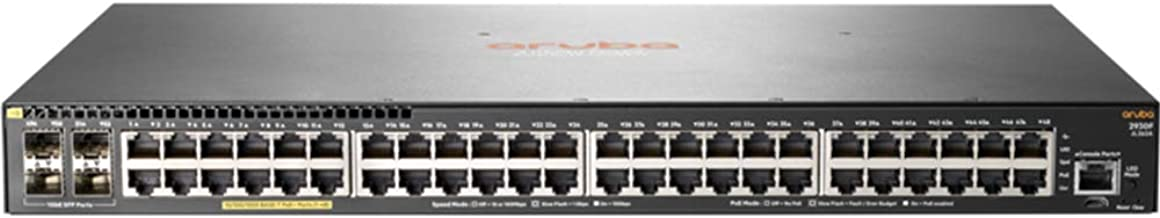 HP HPE Aruba 2930F 48G PoE+ 4SFP Switch, JL262A