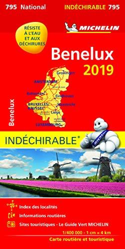 BENELUX HAUTE RESISTANCE / ONVERSCHEURBAAR 17795 CARTE 'NATIONAL' MICHELIN KAART 2019