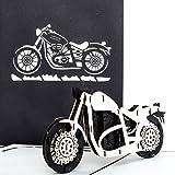 Pop-Up Karte 'Motorrad - Harley Davidson' - 3D Card Motorbike – Biker Geburtstagskarte, Einladung, Geschenkidee zum Geburtstag & Gutschein zum Führerschein & Ausflug mit dem Bike