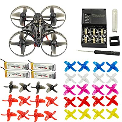 FEICHAO Happymodel Mobula7 75mm Crazybee F3 Pro OSD 2S Whoop FPV Racing Quadcopter w/ 700TVL Camera BNF Drone with extra 10 pairs propeller (Flysky, Standard Version)
