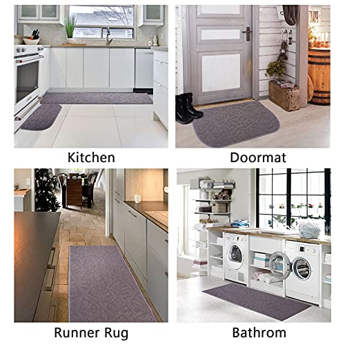 IAXSEE Kitchen Rugs and Mats Non Skid Washable 2 Piece Sets Kitchen Runner Rugs for Floor Bathroom, Sink, Hallway, Laundry 18