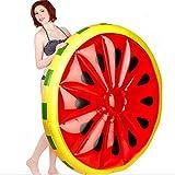 Greatangle Runde Wassermelonen-Art-Swimmingpool-Strand-aufblasbares Hin- und Herbewegungs-Bett-aufblasbarer Sitzwasser-Luft-Bett-Ruheliege-Hilfsausbilder