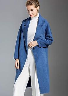 HEF 杭尔鳳 女装 大衣 女 秋冬 双面呢 羊毛 呢大衣 长款 修身显瘦 经典 纯色 优雅 风衣 外套 3色可选 woolen coat