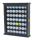49 Golf Ball Display Case Cabinet Wall Rack Holder w/Lockable (Black)