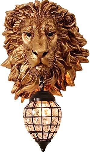 Löwenkopf Innenwandbeleuchtung Wohnzimmer Schlafzimmer Flur Bar Hintergrund Wand Dekoration Beleuchtung Kleidung Raumdekoration Beleuchtung Badezimmer Schminktisch Beleuchtung Spiegel Scheinwerfe