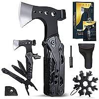 【 Ideale Geschenk für Männer】WayinTop Multi-Tool Hammer mit 15 Funktionen, einschließlich der nützlichsten Werkzeuge im täglichen Leben. Dieses kompakte Multitool Werkzeug ist eine perfekte Wahl Geschenke für Männer an Erntedankfest, an Weihnachten, ...