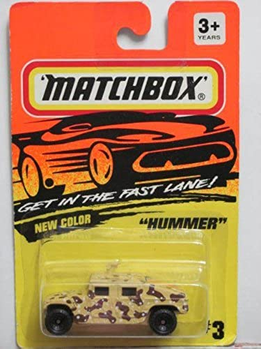 1994 Matchbox Hummer Tan Camouflage  3 Made In Thailand Base Variant by Tyco
