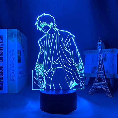 A-Generic Lámpara de Mesa de Noche con ilusión 3D 16 Colores Que cambian la iluminación para Dormir con botón táctil Inteligente Calentamiento Actual Decoración Creativa Arte y Manualidades Ideales