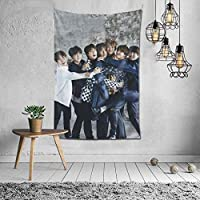 Tapestry BTS Tapestry Movie Poster Interior Stylish Wall Hanging Wall Decor Multi-function Decorative Cloth Fabric Decor Supplies Decorative Art Refurbishment Room Window Curtain Housewarming 60x40inch/150x100cm