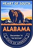 State Animal Alabama Day 4x5.5 inches Sticker Decal die Cut Vinyl - Made and Shipped in USA