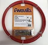 Anguila - Pasacables acero nylon 4mm 15m rojo