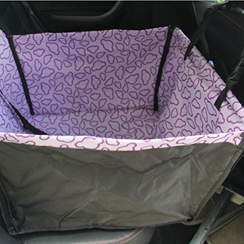 Seat étanche Car Cover Pet Mat chien arrière siège unique, Nuage pourpre