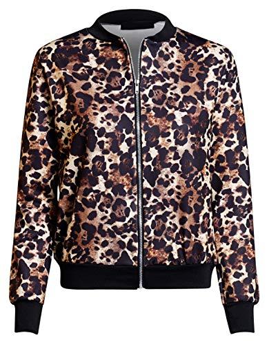 Momo&Ayat Fashions Dames Animal Print Slang Luipaard Tijger Zebra Bomber Jacket UK Maat 8-14