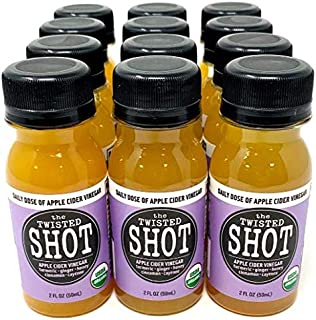 The Twisted Shot | Organic Apple Cider Vinegar Shots with Turmeric, Ginger, Cinnamon, Honey & Cayenne | Immunity Boost | 1...