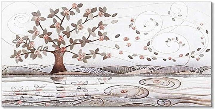 Quadro foglie al vento rame 100 x 50 cm 101048rm cartapietra