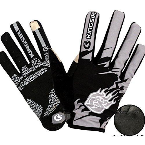 DXG&FX Touch-schermen in de lente en herfst rijhandschoenen volledige vinger fietshandschoenen voor mannen en vrouwen Lange mountainbike handschoenen rijuitrusting