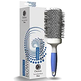 - 519xBvazUKL - Osensia Professional Round Brush for Blow Drying, Large Ceramic Ion Thermal Barrel Brush for Sleek, Precise Heat Styling and Maximum Volume, 2 Inch