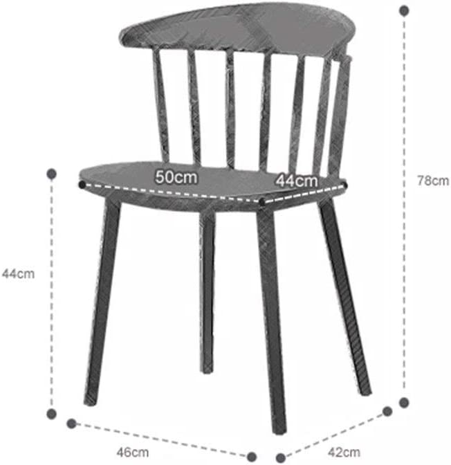 WHOJA Chaise de salle à manger Dossier d'arc Grande surface d'assise Forte capacité de charge 4 couleurs 46x42x78cm Chaises d'angle (Color : Yellow) Red