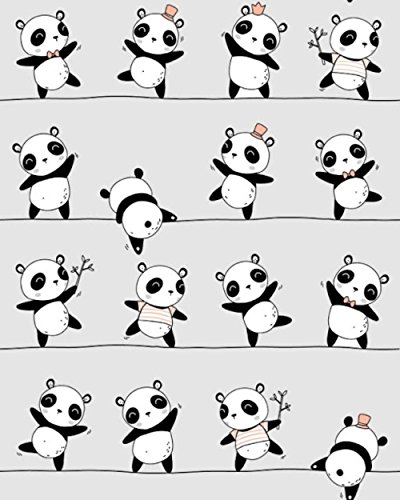 11,99€/m Panda 100% Baumwolle Baumwollstoff Kinder Meterware Handwerken Nähen Stoff (Panda Grau, 100x160cm (11,99€/m))