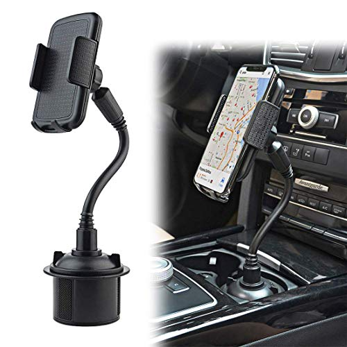 Car Cup Holder Phone Mount, Gresur Adjustable Gooseneck Smart Phone Car Cradle for iPhone 7 7P 8 8P X XS XR / Samsung Galaxy S10 S9 / Huawei Universal Hands Free Phone Holder