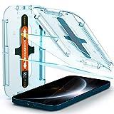 Spigen Glas.TR Ez Fit Vetro Temperato Compatibile con iPhone 12 PRO Max, 2 Pezzi, Resistente ai Graffi, Durezza 9H Pellicola prottetiva