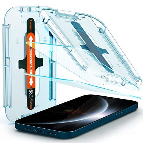 Spigen Glas.TR Ez Fit Vetro Temperato Compatibile con iPhone 12...